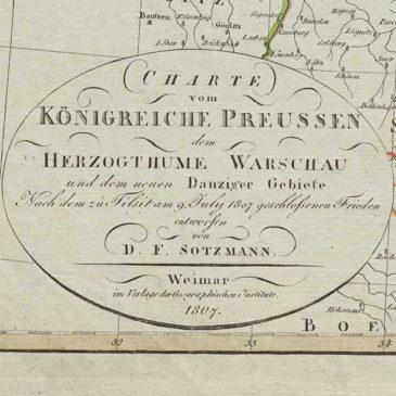 Księstwo Warszawskie po pokoju w Tylży. 1807.
