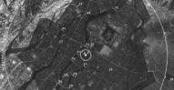 Zrzucenie bomby atomowej na Hiroszimę. Zasięg zniszczeń. 1945.