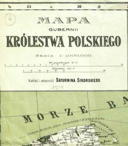 Mapa gubernii Królestwa Polskiego. 1904.