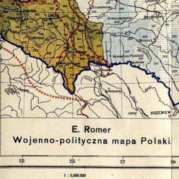 Wojenno-polityczna mapa Polski. Akt 5 listopada 1916.
