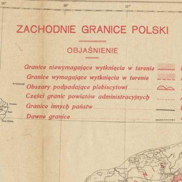 Zachodnie granice Polski. Projekt z 1919 roku.