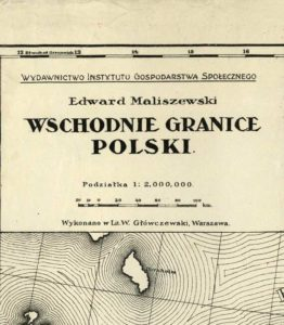 Wschodnie granice Polski. 1920.