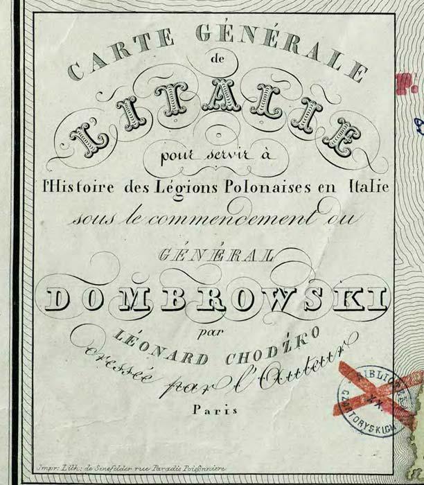 Z ziemi włoskiej do Polski. Legiony Polskie we Włoszech. 1829.