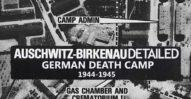 Auschwitz-Birkenau. Niemiecki obóz śmierci. 1944-1945. Mapa szczegółowa.