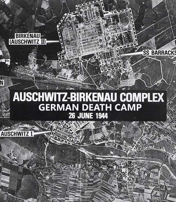 Auschwitz-Birkenau. Niemiecki obóz śmierci. 1944. Mapa ogólna.