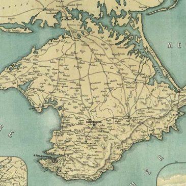 Nowa mapa Krymu. 1855.