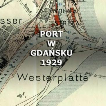 Port w Gdańsku. 1929.