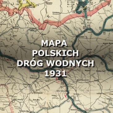 Mapa polskich dróg wodnych. 1931.